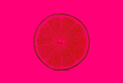 pink orange segment