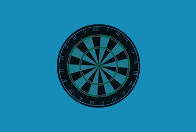 dartboard on blue background
