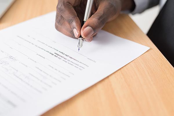 Using e-signatures in place of handwritten signatures